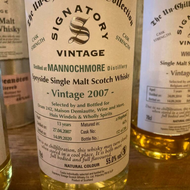 Whisky-loterij! Win een fles Mannochmore (Signatory) Vintage 2007 – Bottled by Wholly Spirits
